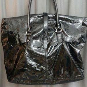 """Leonello Borghi Bags - Leonello Borghi Men""""s Patent Leather Weekender"""